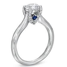 Image result for solitaire sapphire ring