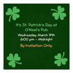 66 best st patrick s day invitations images on pinterest patrick