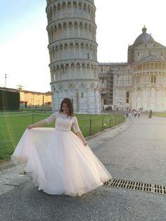 Wedding Photo Shoot  (backstage), Pisa Italy, Bride, Wedding Dress
