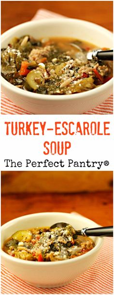Turkey-escarole soup is the kind of soup you crave in cold weather ...