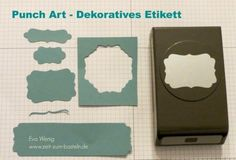 Stempel-ABC – Punch Art Dekoratives Etikett |