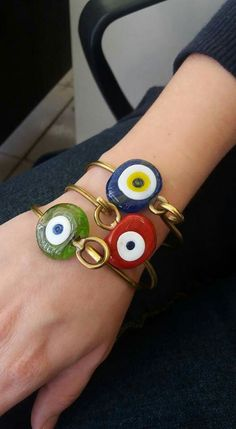 Anastasia Iordanaki Handmade bracelets with evil eye beads  by blue dot..jewels and more Join me on Facebook