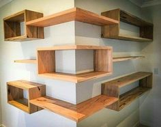 Building some DIY corner shelves might be a great idea for your next weekend project. Corner shelves are a smart solution for your small space. If you want to have shelves but you don't want to be too much on . Diy Corner Shelf, Corner Shelves Living Room, Room Divider Shelves, Corner Space, Bedroom Corner, Master Bedroom, Diy Furniture, Furniture Design, Furniture Plans