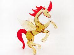 Glass Unicorn Figuirne Unicorn Sculpture Unicorn Miniature Blown Glass Pegas Figurine Pegas Glass Toys Collectible Unicorn Pegas Sunvendor