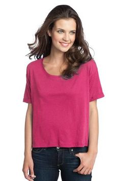 District - Juniors Modal Blend Boxy Tee Style DT281 #fuchsia #blend #modal #tee #district