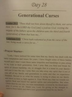 Having some issues that seem to be a generational trend? Here is a prayer for Generation Curses from Single To Married Devotional : 30 Days of Transformation, Restoration, and Healing. Know that you can pray against anything the enemy is trying to come against you. You can bind and break any force he is bringing your way. Set your family free! From Single to Married Devotional. Available on Amazon.com, BAM.com, Barnes&Noble.com & IBooks/ITunes, Kindle/Nook by Chloe M. Gooden
