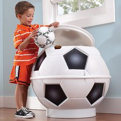 Soccer toy chest