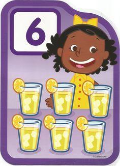 Numero 6 lámina, imagen, imprimir, preescolar, matematicas matemáticas número LAKESHORE
