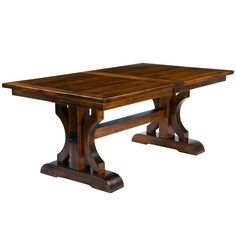 Barstow Trestle Extension Table #rustic