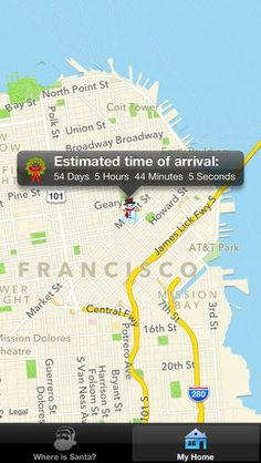 santa tracking app iphone