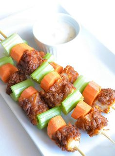 From Breakfast to Dinner, 11 Meals to Serve on a Stick: Buffalo Chicken Skewers