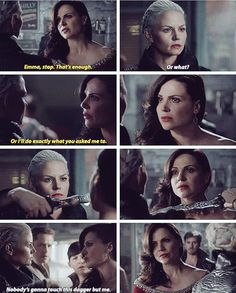 """""""Nobody's gonna touch this dagger but me"""" - Dark Swan and Regina #OnceUponATime"""