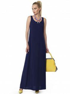 #navy_dress Navy Dress, Maxi Dresses, Fashion, Moda, Navy Gown, Fashion Styles, Curve Maxi Dresses, Fashion Illustrations