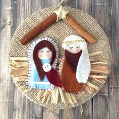 Excited to share the latest addition to my shop: Nativity Ornament / Christmas Nativity Ornament / Christmas Tree Ornament / Nativity Xmas Decoration / Handmade and Design in Felt - Burlap Nativity Ornaments, Nativity Crafts, Felt Christmas Ornaments, Christmas Nativity, Handmade Ornaments, Christmas Crafts For Kids, Christmas Art, Christmas Projects, Holiday Crafts
