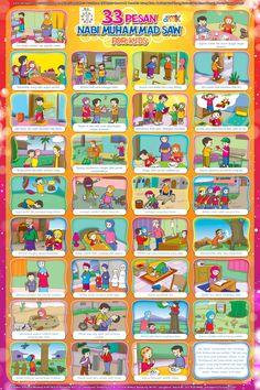 Poster 33 Pesan Nabi For Kids 33 Pesan Nabi Muhammad For Kids<br> Ramadan Activities, Ramadan Crafts, Activities For Kids, Foster Parenting, Gentle Parenting, Kids And Parenting, Teaching Kids, Kids Learning, Prophets In Islam