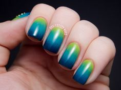 Marsh Gradient and Butterfly Charm | Chalkboard Nails | Nail Art Blog