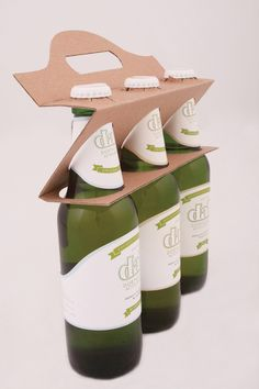DAB BEER packaging design by Anita Vaskó, via Behance clever, much less cardboard used. I hope this design becomes the norm.
