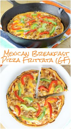 Mexican Breakfast Frittata Pizza (Gluten-Free, Low-Carb)