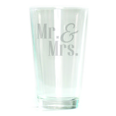 Pub Glass - 16oz - Mr & Mrs