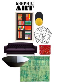"""Graphic Art 4"" by brandnewjen ❤ liked on Polyvore featuring interior, interiors, interior design, home, home decor, interior decorating, Fornasetti, Normann Copenhagen, Bower and Modloft"