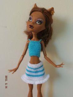 Conjunto 2 piezas. Top y falda de crochet. Hecho a mano.