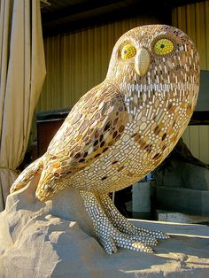 The 7th Indar animal, a burrow owl, waiting for his burrow to be added. Total weight, approx. 23,000 lbs!