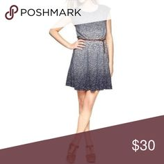 gap gradient dot dress Flounce. Polka dots. Cap sleeves. Navy and white. Pockets! What more could you ask for in a summer dress?? This perfect one from GAP has all of he above and needs a new home in your closet. Excellent condition. Size small. GAP Dresses