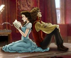 Once Upon A Time Rumpelstiltskin And Belle. <3