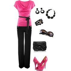 Pretty in Pink, created by maggiemaesdays on Polyvore