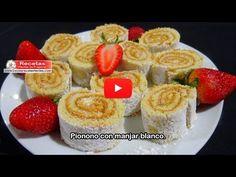 Receta de Pionono con manjar blanco (Vídeo) - Recetas fáciles