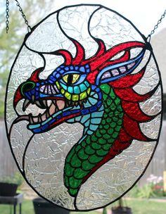 Dragon Head Stained Glass Patterns Faux Stained Glass