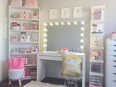 WEBSTA @ impressionsvanity - Hello lovely is right!  Is this vanity heaven or what?@glambymissb's beyond gorgeous setup features our #ImpressionsVanityGlowPro