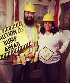 Bump Ahead Halloween Costume for a Pregnant Couple