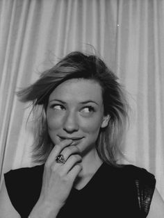 Cate Blanchett. She's gorgeous and I love her voice.