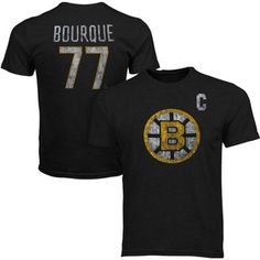 Old Time Hockey Ray Bourque Boston Bruins Alumni Player Vintage Heathered T-Shirt - Charcoal