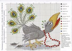 Cross-stitch Silly Peacock, part 2...