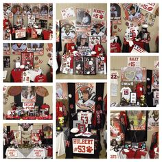 Our WHS Seniors went all out this year on their senior tables for the athletic banquet. So proud of the Class of 2014 Cheer Banquet, Football Banquet, Cheer Posters, Basketball Posters, Locker Decorations, Banquet Decorations, Banquet Ideas, College Signing Day, Football Homecoming