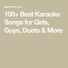 good songs to sing for guys
