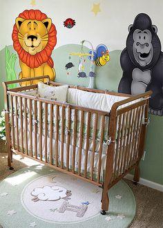 Baby Nursery Wall Decal - Jungle...    https://pinterest.com/picturesnow/nursery-ideas/