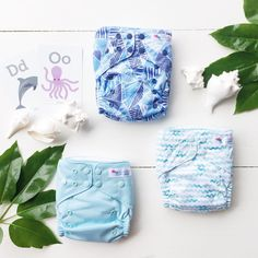 Ocean Collection | EcoNaps Modern Cloth Nappies. Designer Prints hand styled in Byron Bay, Australia.