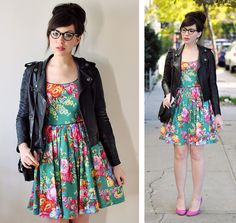 Love this paired with a leather jacket. @Penny you can totally do this with your dress!