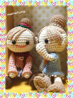 niñas amigurumi pagina japonesa