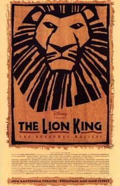 The Lion King Broadway Masterprint at AllPosters.com