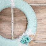 Yarn Spring Wreath Tutorial