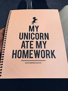 Imagen de unicorn, homework, and notebook