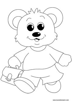 orsetto-accoglienza-scuola-infanzia Coloring For Kids, Adult Coloring, Coloring Books, Coloring Pages, Craft Activities For Kids, Crafts For Kids, Arts And Crafts, Working With Children, Drawing Reference