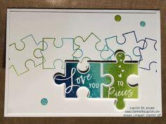 Spectrum Pad Love You to Pieces (Kurstan's Crafting Corner) Puzzle Pieces, Card Making Inspiration, Making Ideas, Puzzle Crafts, Valentine Love Cards, Love You To Pieces, Miss You Cards, Wedding Anniversary Cards, Floral Arrangements