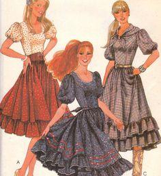 Square Dance Dress Pattern McCalls 7668 Size 14 Uncut