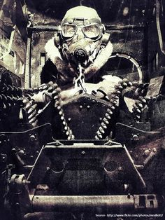 """enrique262: """"Turret gunner of an american bomber, WW2. """""""