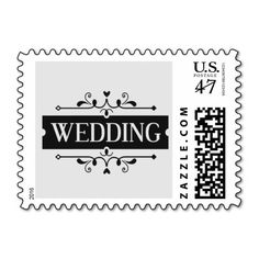 Elegant Wedding Postage Stamp